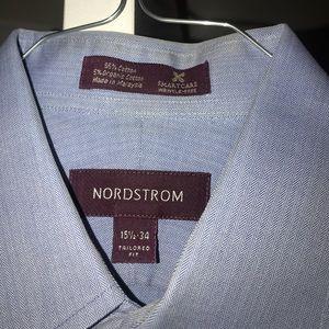 Crisp blue dress shirt from Nordstrom's